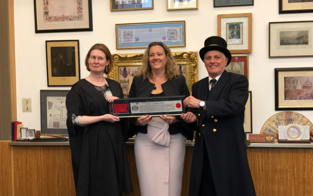 Award-winning London-based lawyer and Founder of A City Law Firm, Karen Holden, has been invited to gain Freedom of the City.