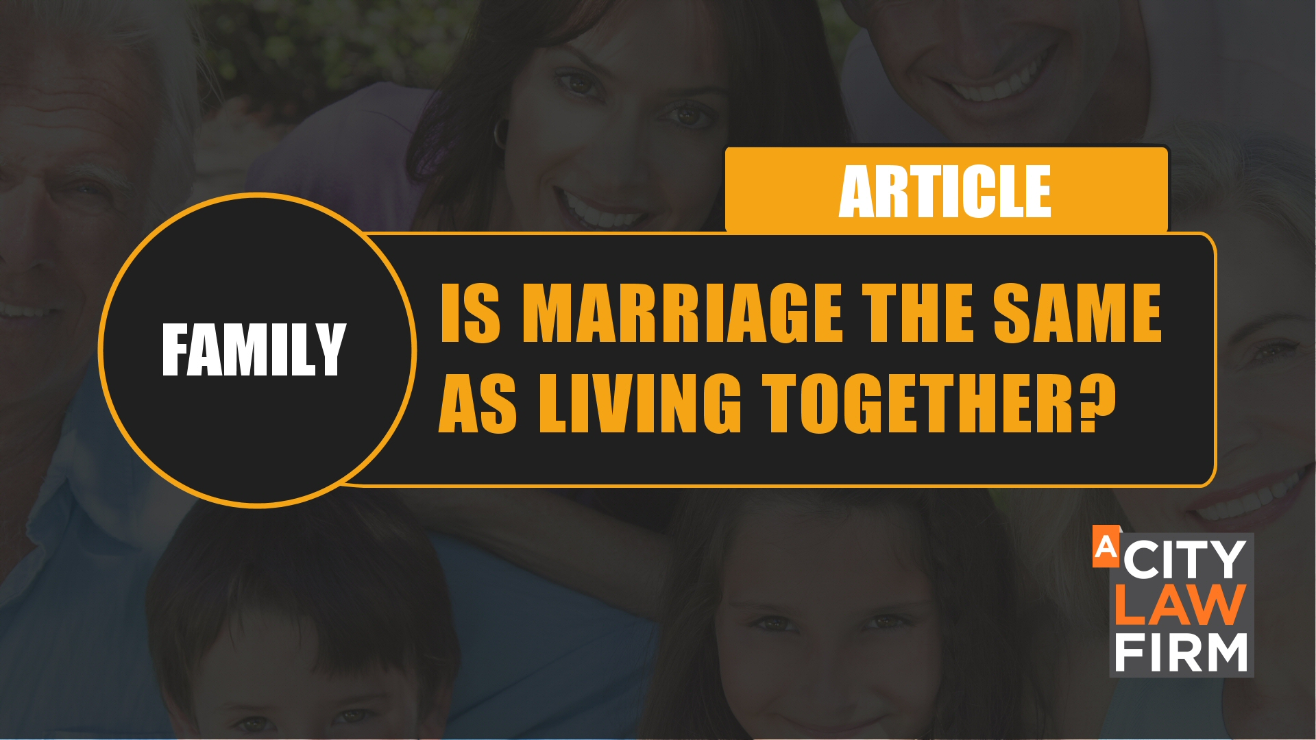 Is Marriage the same as living together?