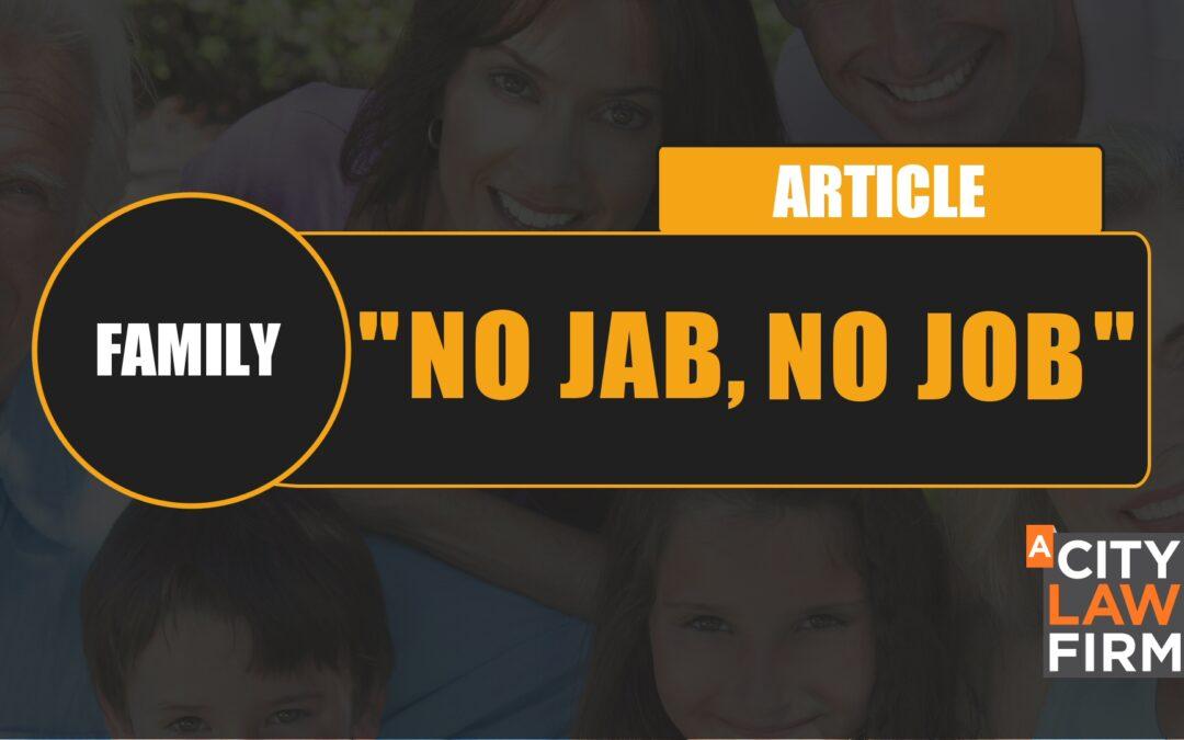 """""""No jab, no job"""""""