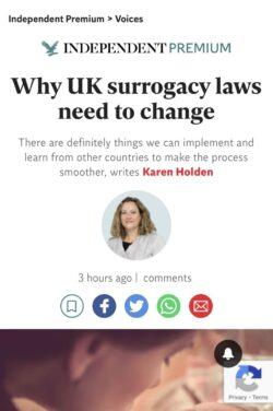 UK Surrogacy Reform : Proposals and what this would mean